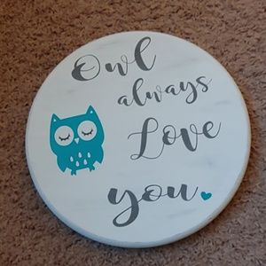 Handmade Wood Owl Sign